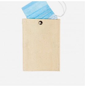 Cotton pouch with snap button